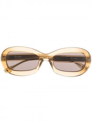 Солнцезащитные очки Out Of Blue в овальной оправе Etudes. Цвет: нейтральные цвета