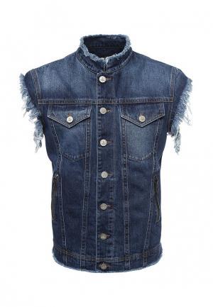 Жилет джинсовый Vivienne Westwood Anglomania VI989EMQLS23. Цвет: синий
