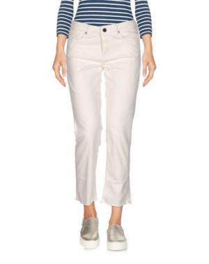 Джинсовые брюки-капри SCOTCH & SODA. Цвет: белый