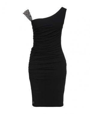 Короткое платье PHILIPP PLEIN. Цвет: черный