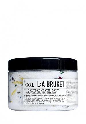 Соль для ванн La Bruket 001RINGBLOMMA/APELSIN/GERANIUM/MARIGOLD/ORANGE/GERANIUM 450 ?. Цвет: белый