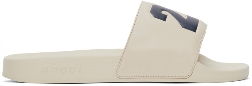 Beige Eschatology Slides Gucci. Цвет: 9522 ivoire
