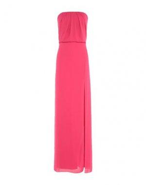 Длинное платье HALSTON. Цвет: фуксия