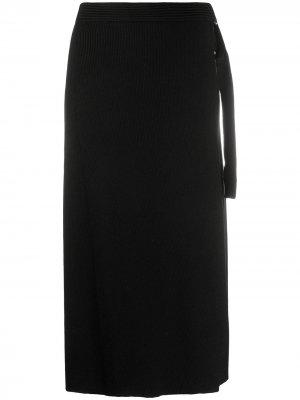 Юбка Hilary с запахом и D-образной пряжкой DVF Diane von Furstenberg. Цвет: черный