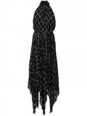 Длинное платье Dahlia Altuzarra. Цвет: черный