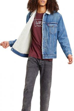 Куртка TYPE 3 SHERPA TRUCKER Levis Levi's. Цвет: синий