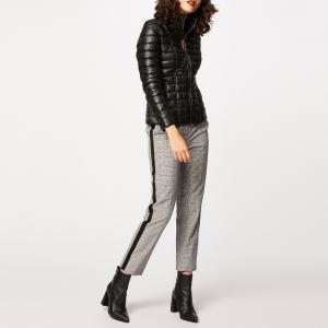 Куртка стеганая короткая на молнии, демисезонная модель MORGAN. Цвет: черный