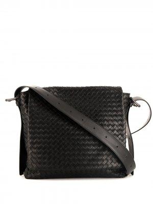 Сумка на плечо с плетением Intrecciato Bottega Veneta Pre-Owned. Цвет: черный