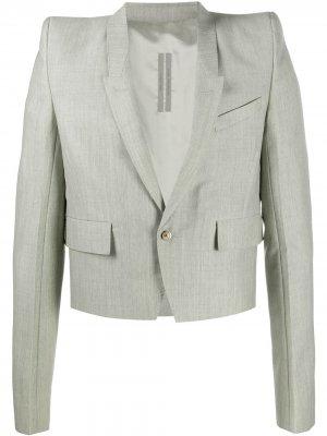 Короткий пиджак с объемными плечами Rick Owens. Цвет: нейтральные цвета