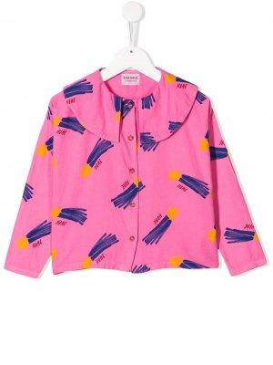 Блузка с принтом Home Bobo Choses. Цвет: розовый