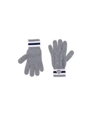 Перчатки MONCLER. Цвет: серый