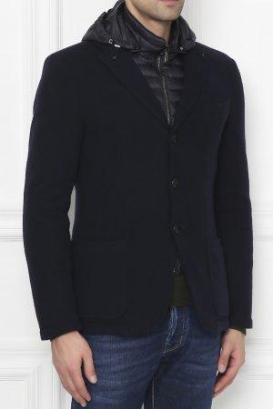 Темно-синяя куртка с жилетом MooRer. Цвет: синий