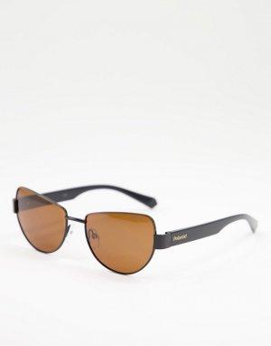 Солнцезащитные очки-авиаторы -Коричневый цвет Polaroid
