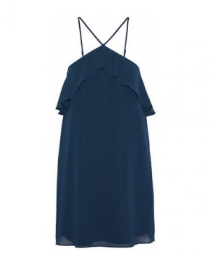 Короткое платье HAUTE HIPPIE. Цвет: темно-синий