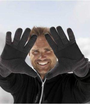Тактильные Перчатки из Флиса Atlas For Men. Цвет: серый