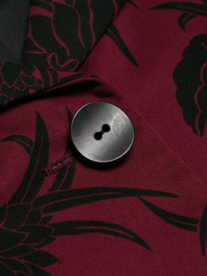 Куртка с цветочным принтом Prada Pre-Owned. Цвет: красный