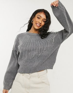 Серый свитер из переработанных материалов BB Dakota