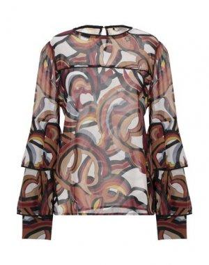Блузка RELISH. Цвет: красно-коричневый