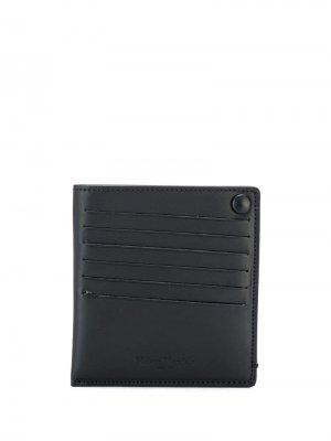 Бумажник с застежкой на кнопке Maison Margiela. Цвет: черный