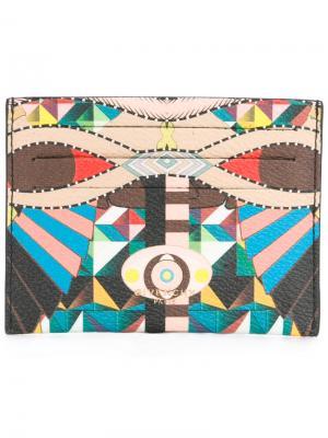 Визитница с геометрическим узором Givenchy. Цвет: многоцветный