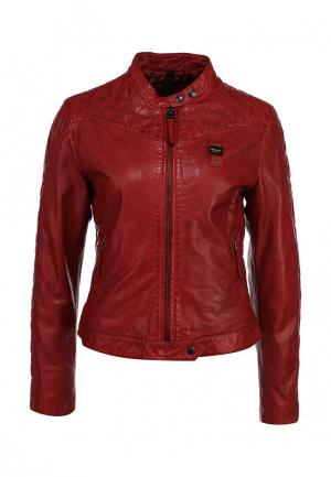 Куртка кожаная Blauer. Цвет: красный