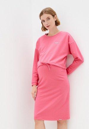 Платье и джемпер Fest. Цвет: розовый