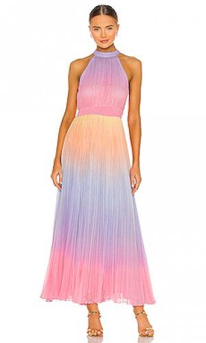 Макси платье emi ROCOCO SAND. Цвет: розовый