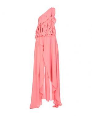 Длинное платье BABYLON. Цвет: лососево-розовый