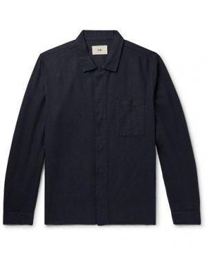 Pубашка FOLK. Цвет: темно-синий