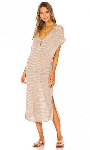 Платье миди ryder TAVIK Swimwear. Цвет: nude