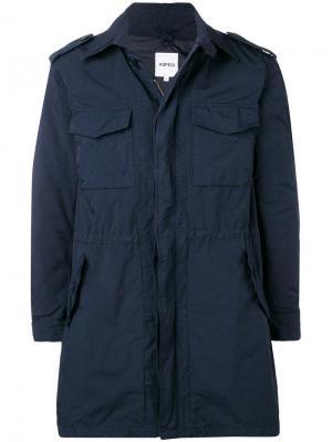 Пальто на молнии с карманами клапанами Aspesi
