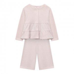 Комплект из жакета и брюк Il Gufo. Цвет: розовый