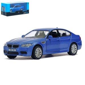 Машина металлическая bmw m5, 1:32, инерция, цвет синий Автоград