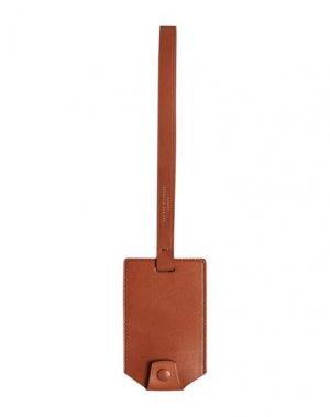 Багажная бирка DUNHILL. Цвет: коричневый