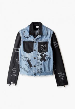 Куртка джинсовая Faith Connexion. Цвет: голубой