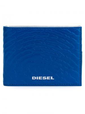 Кошельки и визитницы Diesel. Цвет: синий