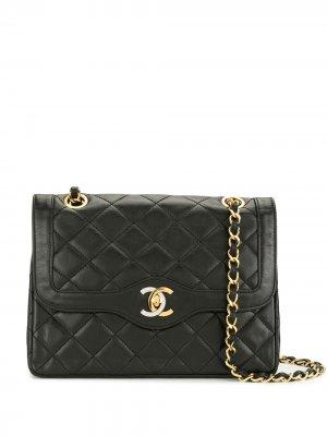 Сумка на плечо Double Flap 1990-х годов Chanel Pre-Owned. Цвет: черный