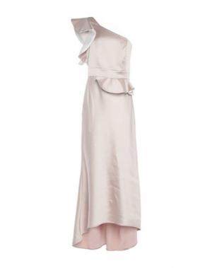 Платье длиной 3/4 EDAS. Цвет: бежевый