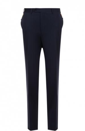 Классические шерстяные брюки Canali. Цвет: синий