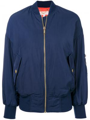 Куртка бомбер с длинными рукавами Michael Kors. Цвет: синий