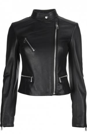 Кожаная куртка Dolce & Gabbana. Цвет: черный