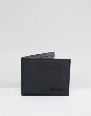 Черный кошелек Pull&Bear. Цвет: черный