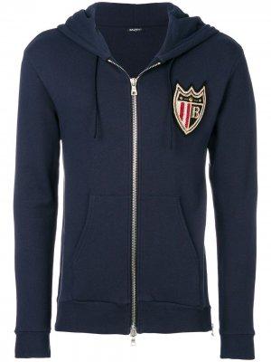 Пиджак на молнии с заплаткой Balmain. Цвет: синий