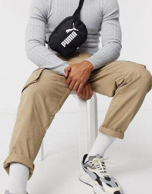 Черная сумка-кошелек на пояс -Черный Puma