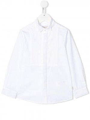 Рубашка с манишкой и длинными рукавами Paul Smith Junior. Цвет: белый