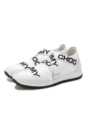 Комбинированные кроссовки Toronto Jimmy Choo. Цвет: черно-белый