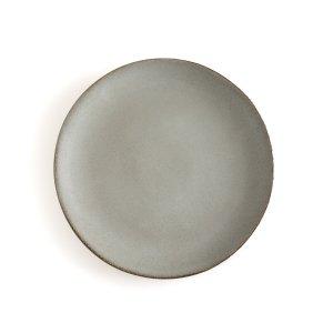 Комплект из 4 тарелок плоских LaRedoute. Цвет: серый