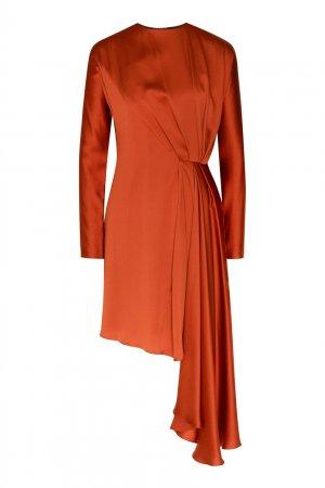 Коричневое платье из шелка Chapurin. Цвет: коричневый