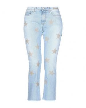 Джинсовые брюки-капри P_JEAN. Цвет: синий