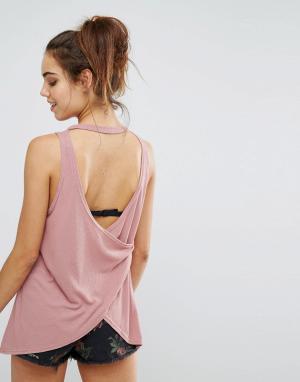 Майка с открытой спиной Minkpink. Цвет: розовый